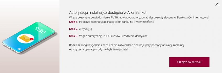Autoryzacje mobilne w alior banku